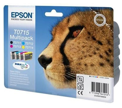 Picture of Compatible EPSON Cheetah T0715 - Multipack